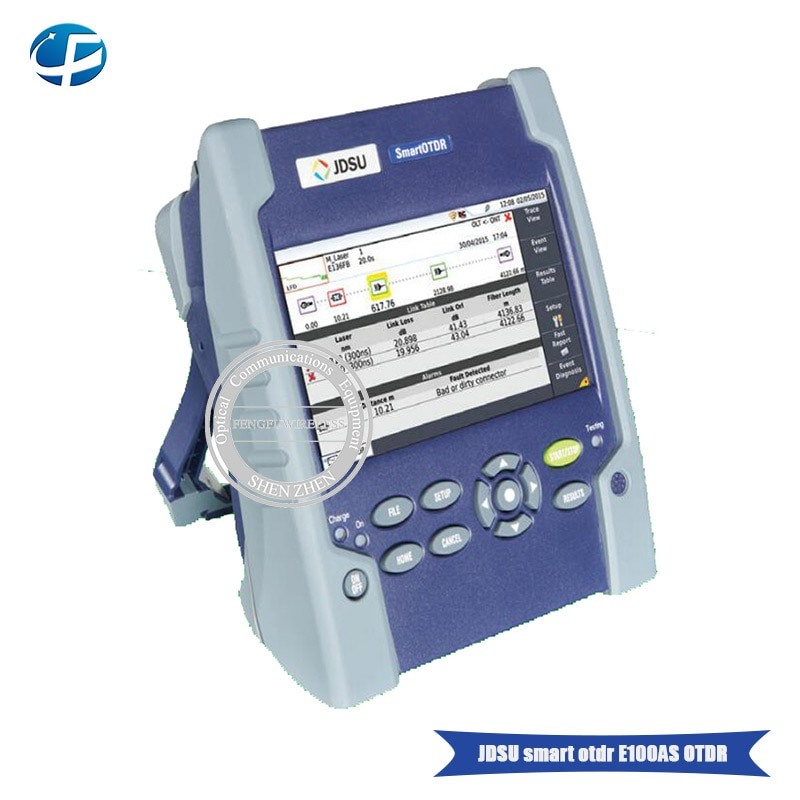 Alta calidad E100AS OTDR probador de fibra de mano E100AS SM 1310/1550nm reflectómetro de dominio de tiempo óptico Localizador visual de fallos