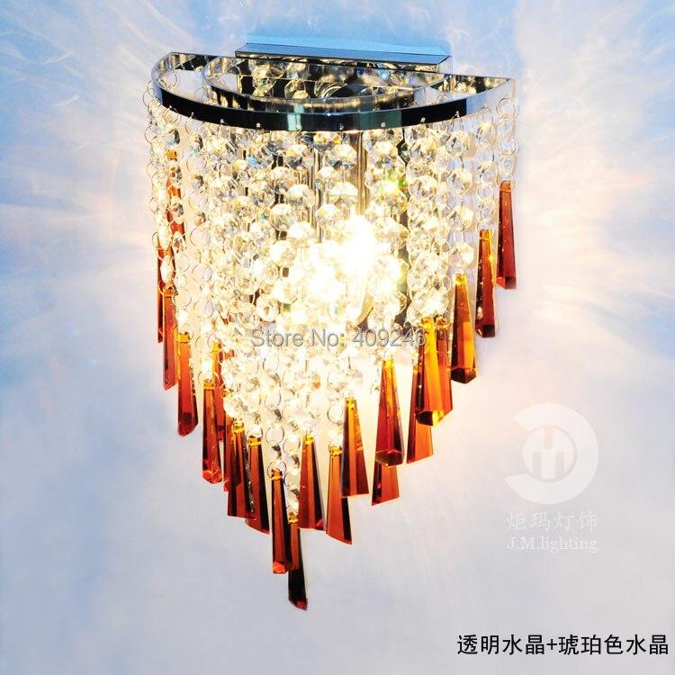 Modern Luxurious Decorative Lamp High Quality K9 Crystal Wall Lamp Use E14