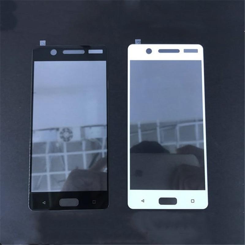 """עבור Nokia 5 TA-1053 5.2 """"כיסוי מלא מזג מגן מסך זכוכית עבור Nokia 6 2018 6.1 עבור Nokia 3 8 כיסוי מלא סרט זכוכית"""