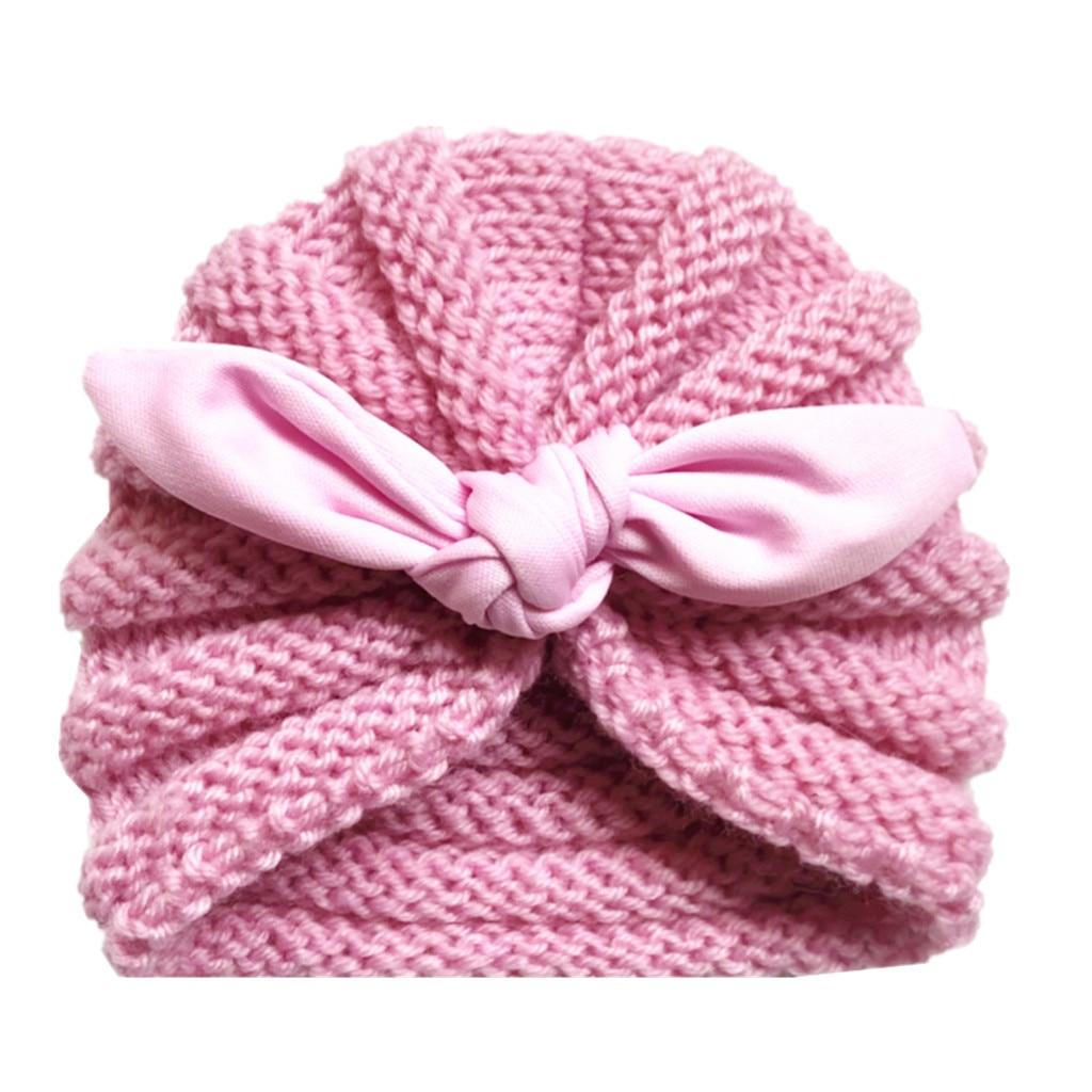 Nuevo gorro de algodón para bebé para niñas, Otoño Invierno, gorro para bebés y niñas, accesorios de fotografía, sombrero turbante elástico para bebés, accesorios para bebés