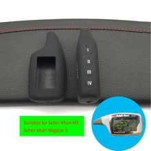 High Quality Silicone Rubber Key Cover for Russia Vehicle Security 2 Way Car Alarm System Scher Khan
