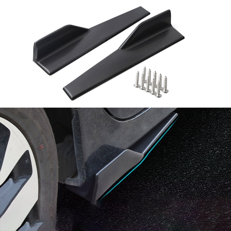 2Pcs Car Side Skirt Rocker Splitters Anti-Scratch Winglet 45cm Small Encircling For Bmw E46 E90 Focus 2