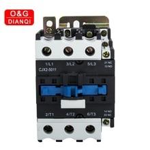 50A 5001 AC contacteur 3 phases   Tension sans bobine, 380V 220V 24V 50Hz monté sur Rail Din 3P + 1NO, contacteur Normal ouvert