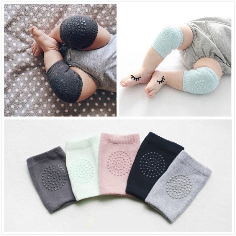 12 par/lote, nuevas rodilleras de algodón de verano para bebé, antideslizantes de seguridad para niños, Protector de rodilla necesario para bebés recién nacidos