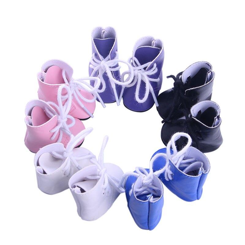 Botas de muñeca 5 colores botas de color sólido para muñeca americana de 14,5 pulgadas wellie wisher ropa de muñeca para generación