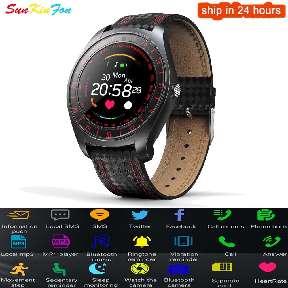 Reloj inteligente deportivo con Bluetooth, podómetro, control del ritmo cardíaco y de la tarjeta SIM para Huawei Honor 9i Play 10, V10, 9, 6A y P8 Lite