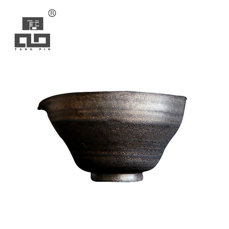 TANGPIN-إبريق شاي من السيراميك الياباني ، إبريق شاي مصنوع يدويًا ، إكسسوارات شاي الكونغ فو الصينية