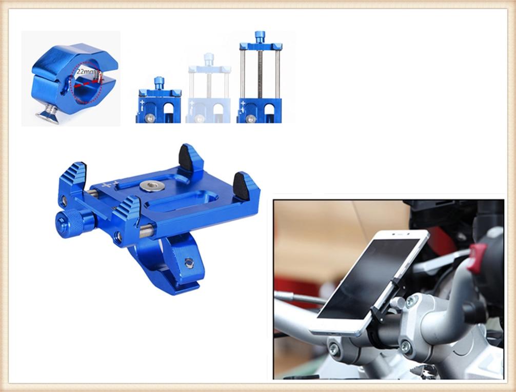 Soporte de teléfono inteligente con forma de motocicleta, navegación de aleación de aluminio para Kawasaki ZR750 ZEPHYR ZX-6 ZX9R ZXR400 ZZR600 VERSYS 1000