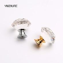 Poignée de traction en cristal   Diamant clair 30mm 1 pièce, poignée de placard, tiroir de porte, bouton de meubles