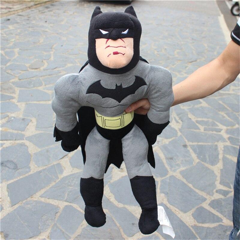 1 pieza de animé de dibujos animados de 50cm de Los Vengadores Superman Batman divertido Peluche de felpa suave juguete gigante bonito bebé para niños regalo de cumpleaños