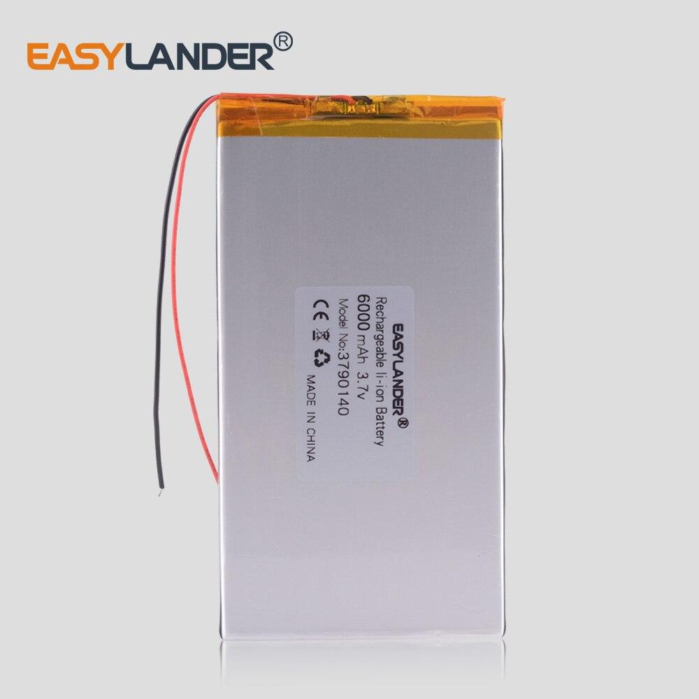 Gran capacidad 3,7 V tableta batería 6000 mah cada marca tableta universal baterías de litio recargables 3790140