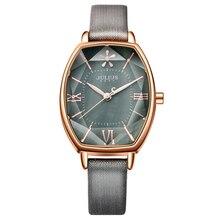 Женские кварцевые часы Top Julius, розовое золото, под платье, из кожи, в римском стиле