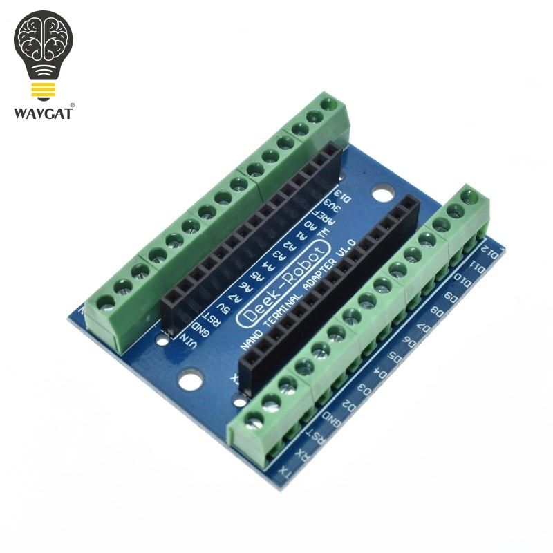 WAVGAT Standard Terminal Adapter Board For Arduino Nano 3.0 V3.0 AVR ATMEGA328P ATMEGA328P-AU Module Expansion Shiled Module
