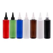 Bouteilles en plastique colorées vides de Lotion cosmétique de 250ml X 25 avec le chapeau supérieur de torsion E voyage liquide de bouteilles de shampooing de récipient demballage