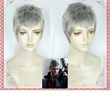 Nero Cosplay Perücke Halloween Cosplay Kostüm Perücke Haar Spiel Hunter Nero Kurze Silber Grau Haar + Perücke Kappe