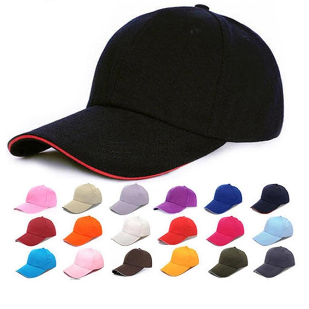 Sombreros de moda de 18 colores, gorra Snapback para hombre y mujer, gorra ajustable lisa de Hip-Hop, gorra Bboy informal de talla única, sombreros bonitos para chicas