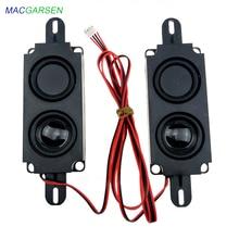 1 paire 10045 tout-en-un publicité haut-parleur moniteur LCD LED TV haut-parleurs 8 ohms 10W Rectangle haut-parleurs Audio barre de son haut-parleur