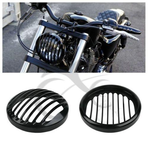 "5,75 ""5 3/4"" CNC светодиодные фары Гриль Крышка для Harley Davidson Sportster XL 883 Iron 1200 04-14 Custom XL1200C 1200 мотоцикл"