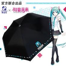 [Hatsune Miku]Anime Folding Regenschirm Regen Frauen Anti UV Sonnenschirm Manga Kagamine RIN & LEN Geschenke Für Mädchen cosplay Vocaloid