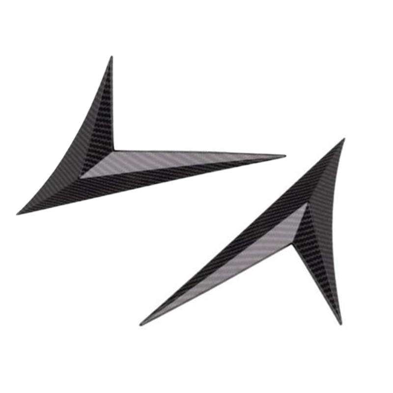 Side Air Vent Replacement Trim For Honda Civic 2016-2019 Fender Cover ABS Carbon Fiber Black Car Practical Parts