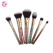ENERGY Brand Professional Makeup  6Pcs Brush Set Nylon Hair Plastic  Handle Makeup tool bd