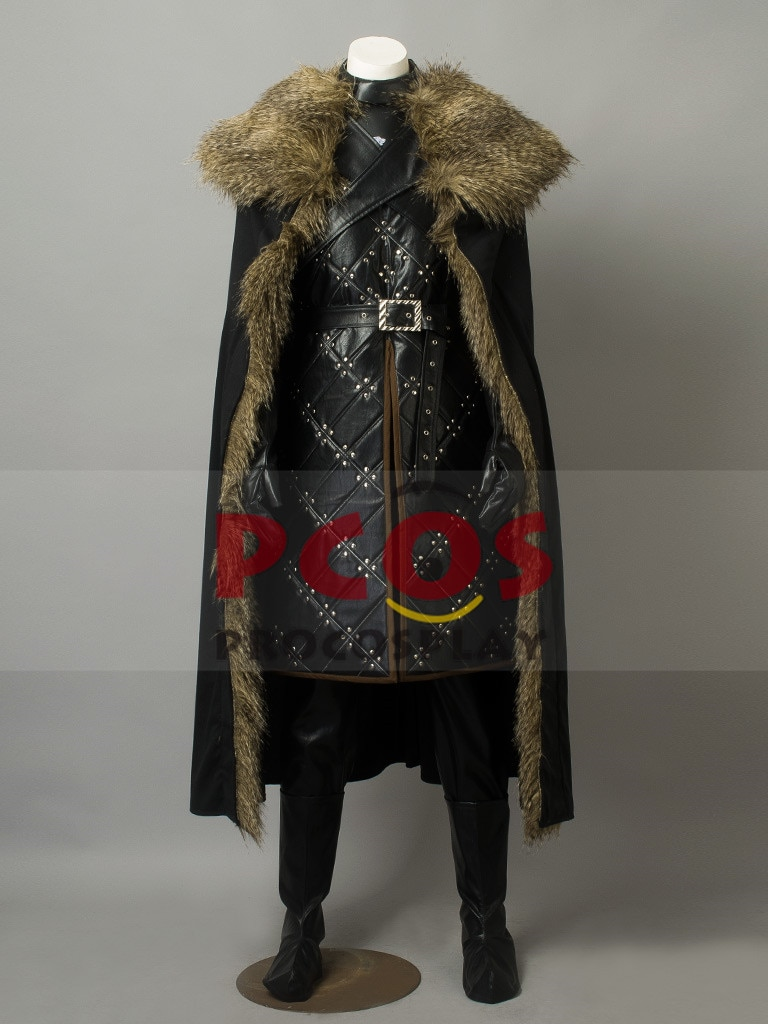 Juego de tronos temporada 7 Jon Snow King of The North Cosplay disfraz mp003834