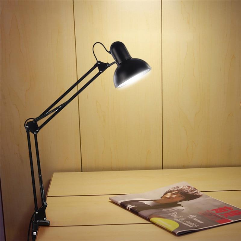 LAIDEYI Desk Lamp Flexible Led Desk Lamp Home Office Led Table Lamp Metal Architect Adjustable Folding Reading Light