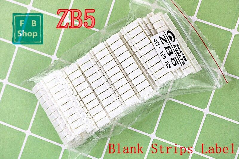 100 Uds ZB5 UK3N UKK3 USLKG3 en bloques de terminales de carril Din de tiras de etiqueta