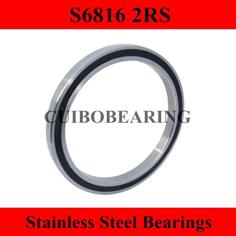 S6816 2RS الفولاذ المقاوم للصدأ محمية مصغرة الكرات S61816 الحجم: 80*100*10 مللي متر