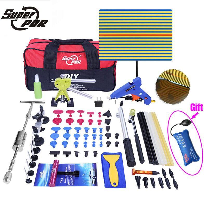 Herramienta de reparación de abolladuras de tracción súper PDR, herramienta de reparación de abolladuras reparador de abolladuras de coche, herramientas de enderezado de martillo inverso