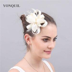 Feamal Ladies Formal Dress Wedding Headwear Hair Clip Ladies Hair Fascinator Accessories Hair Clip With Fancy Feather Headdress