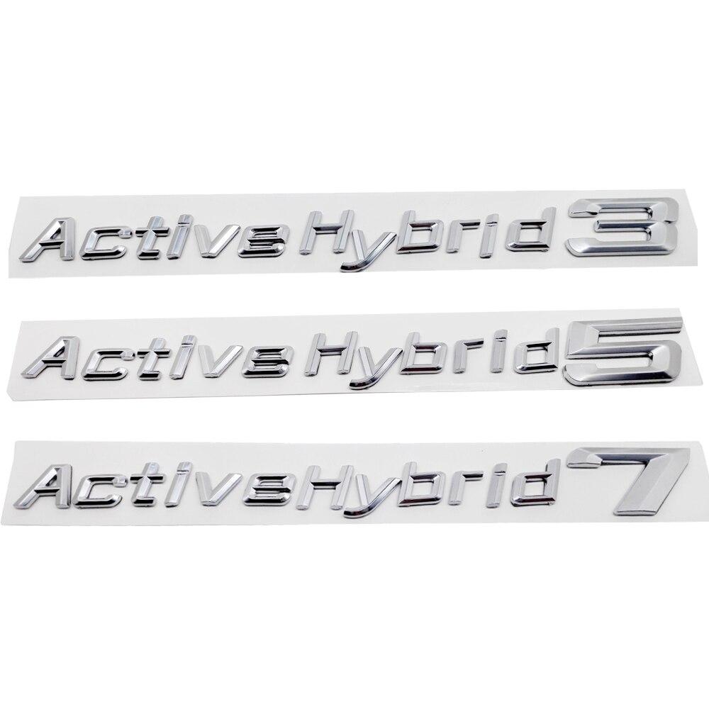Para BMW Performance Active Hybrid 3 5 7 parachoques del maletero número letras insignia emblema Tuning Sticker ActiveHybrid E46 E39 E90 E60 E36