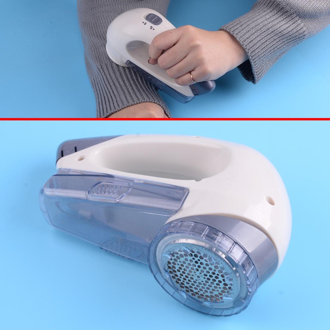 Hogar portátil de plástico blanco de ropa eléctrica suéteres de Lint Fuzz afeitadora pelusa removedor