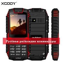 "XGODY ioutdoor T1 2G Feature-Phone IP68 Stoßfest cep telefonu 2.4 ""'128M + 32M GSM 2MP Zurück kamera FM Telefon Celular 2G 2100mAh"