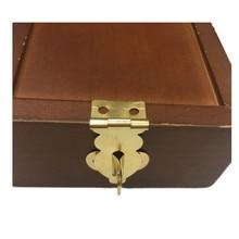 Boîte à bijoux en laiton Antique   Cadenas à loquet, boîte à vin verrouillée, sac à main, accessoires de quincaillerie à boucle jaune, 19*38mm,6 pièces