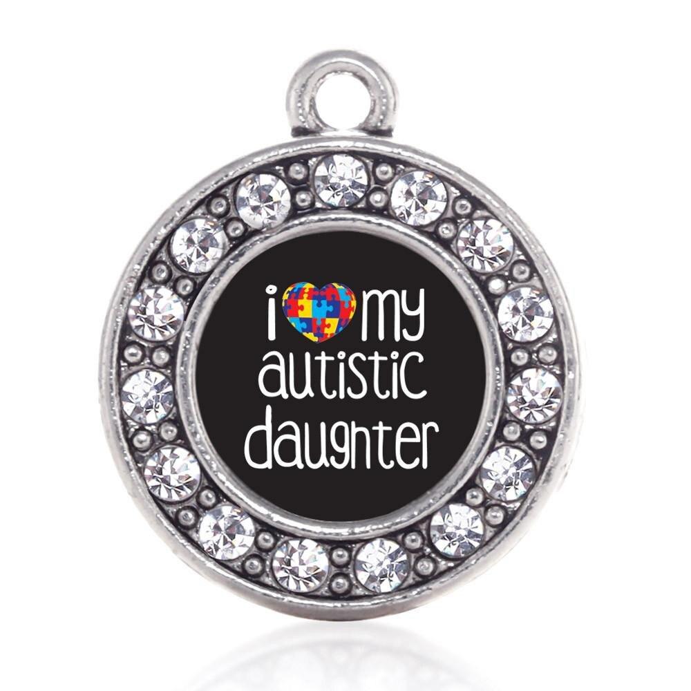 Amo a mi hija autista, tía, hermano, Prima, cariñosa, miembro de la familia que con autismo concientiza el encanto para hacer joyas