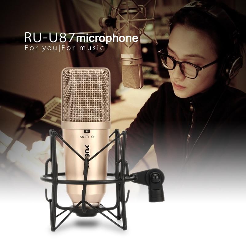 YUEPU U87 Студийный конденсаторный микрофон Профессиональная Большая диафрагма Высокая чувствительность для записи Youtuber прямая трансляция
