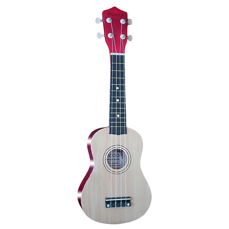 Ukelele Mcool de 21 pulgadas, Ukelele Soprano, 4 cuerdas, guitarra Hawaiana de abeto, instrumento de cuerda Uke