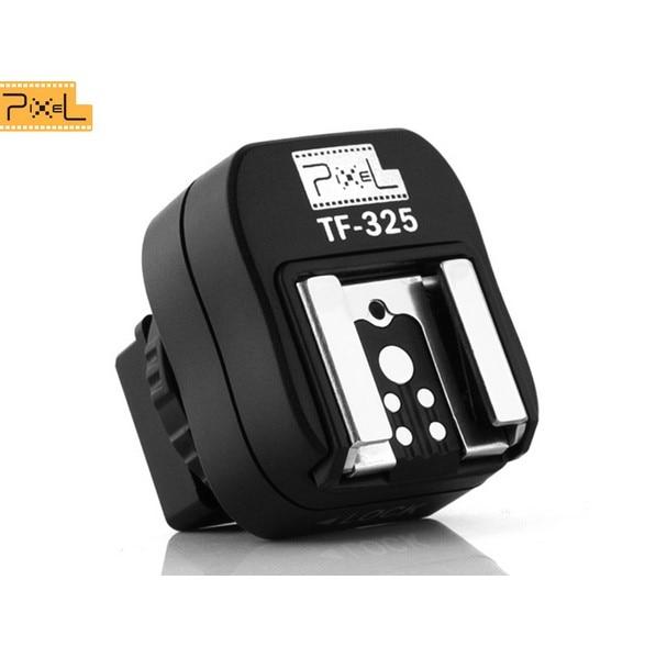 Promoción 2015 nuevo Pixel TF-325 Adaptador de zapata convertidor a ordenador de sincronización de enchufe para Sony Alpha Minolta Konica como FS-1100 FS1100
