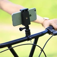NeNewest Bicycle Accessories Handlebar Clip PULUZ Selfie Sticks Tripod Mount Adapter Phone Clamp for Go Pro  Sport Camera