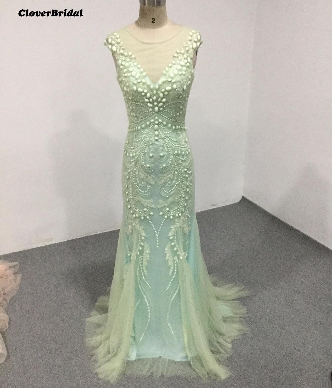 luxv estidos de festa vestido longo para casamento 2017 Tiles sequins stones luxury green straight evening dress for girls