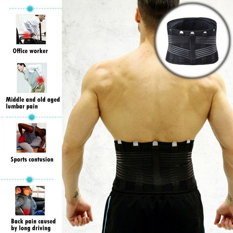 Hombres Sauna abdomen Tuck cinturón moldeador de cuerpo cintura tirantes faja vientre Delgado entrenador de cintura soporte para dolor Lumbar brace