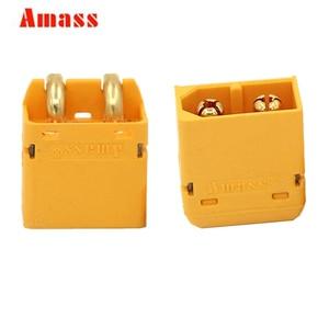 10 пара/лот оригинальный Amass XT60PW разъем штекерные и женские пулевые Разъемы Вилки для RC LiPo батареи скидка 20%