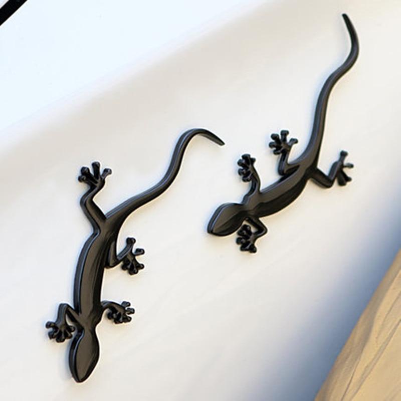 Автомобильный Стайлинг 3D Черный геккон ящерица металлический хром эмблема наклейка авто мотоцикл логотип значок Обложка украшения аксесс...