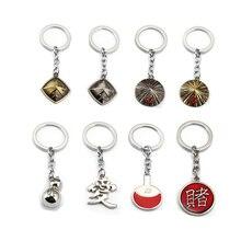 Japan Cartoon NARUTO figure Keychain Anime Key Ring cospla Key Chain Sasuke Gaara Holder Pendant gift women children jewelry