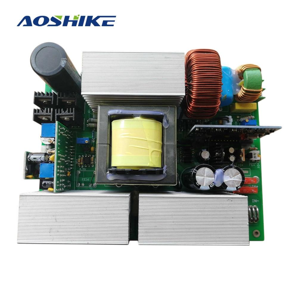 AOSHIKE 1 шт. чистый синусоидальный инвертор 12 В 24 в 36 48 до 220 солнечный инверсор
