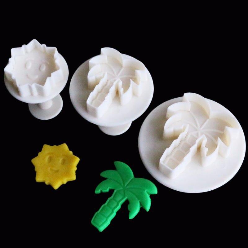 3 unids/set de forma de La Palma molde galletas cortador estampado molde de galleta fondant galleta sellos para hornear herramienta para hornear