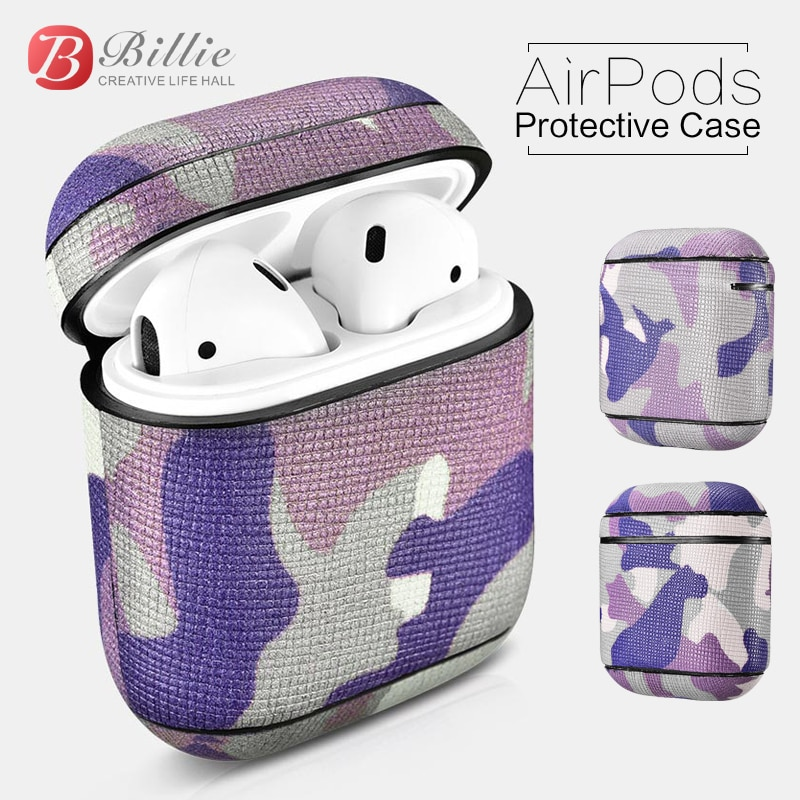 Funda protectora de cuero auténtico para Apple Airpods, funda protectora inalámbrica con...
