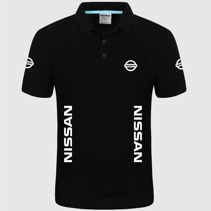 Летняя рубашка-поло, брендовая, с коротким рукавом, с логотипом nissan polo, модная, повседневная, однотонная, унисекс