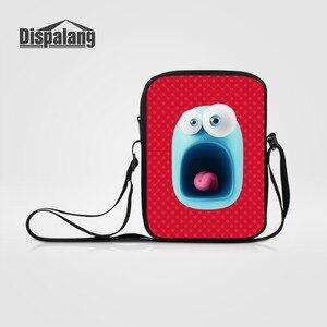 Dispalang Cartoon Print Kids Messenger Bags Brand Womens Shoulder Bags Screaming CrossBody Bag for Children Kids Casual Mini Bag